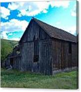 An Old Barn In The Sage Canvas Print