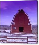 An Old Barn In The Wenas Canvas Print