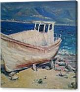 An Old Boat Canvas Print