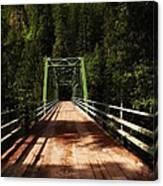 An Old Bridge Crossing The Seleway River  Canvas Print