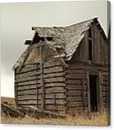 An Old Cabin In Eastern Montana Canvas Print
