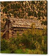 An Old Cabin In Utah Canvas Print