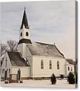 An Old Church In Palermo North Dakota Canvas Print