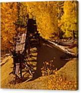 An Old Colorado Mine In Autumn Canvas Print