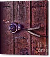 An Old Doorbell Canvas Print
