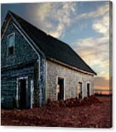 An Old Farm House Sits Partially Buried Canvas Print