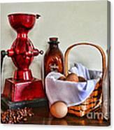 An Old Fashion Breakfast Canvas Print
