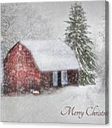 An Old Fashioned Merry Christmas Canvas Print