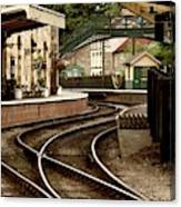 An Old-fashioned Train Station Canvas Print