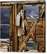 An Old Miners Shack With A View Canvas Print
