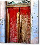 An Old Red Door Canvas Print