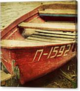 An Old Row Boat Canvas Print