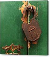 An Old Rusty Lock Canvas Print