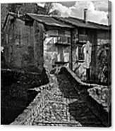 An Old Spanish Town Puente De Montanana Canvas Print