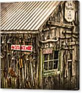 An Old Tool Shed Canvas Print