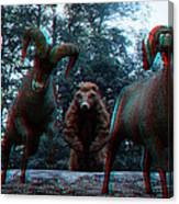 Anaglyph Wild Animals Canvas Print