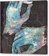 Anahata - Heart 'blue Hand' Chakra Mudra Canvas Print