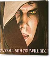 Anakin Skywalker A Powerful Sith Canvas Print