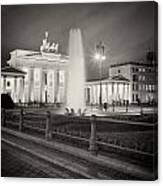 Analog Photography - Berlin Pariser Platz Canvas Print