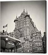 Analog Photography - Chateau Frontenac Quebec Canvas Print