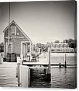 Analog Photography - Martha's Vineyard Black Dog Wharf Canvas Print