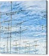 Analog Television Aerials Canvas Print