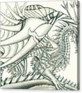 Anare'il The Chaos Dragon Canvas Print