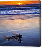 Anchor Ocean Beach Canvas Print