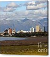 Anchorage Alaska Skyline Canvas Print
