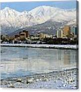Anchorage Cityscape Canvas Print