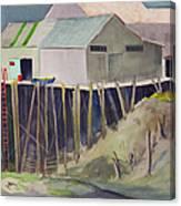 Anchorage Dock 1980s Canvas Print