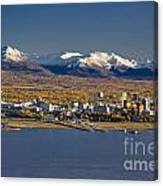 Anchorage Skyline And The Chugach Canvas Print