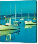 Anchored In Maine Canvas Print