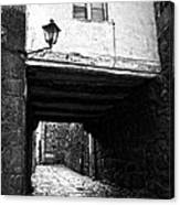 Ancient Alley In Tui Bw Canvas Print