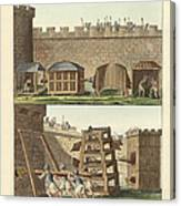 Ancient Besiegement Tools Canvas Print