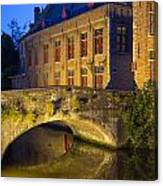 Ancient Bridge In Bruges  Canvas Print