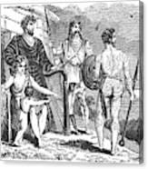 Ancient Briton, Caledonian And Irish Canvas Print