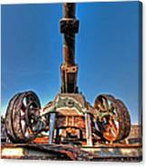 Ancient Cannon From Ww2 Canvas Print