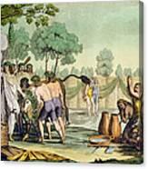 Ancient Celts Or Gauls Sacrificing Canvas Print