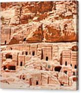 Ancient Dwellings At Petra Canvas Print