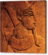 Ancient Egyptian Carving, Temple Of Canvas Print