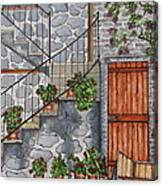Ancient Grey Stone Residence Canvas Print