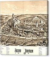Ancient Jerusalem Map 65ad Canvas Print