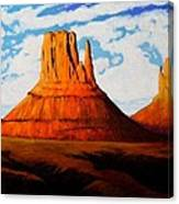 Ancient Land Monument Valley Canvas Print