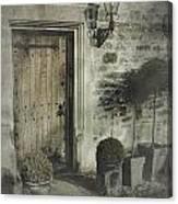 Ancient Medieval Door Canvas Print