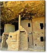 Ancient Pueblo Dwelling Ruins Canvas Print
