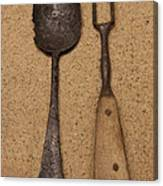 Ancient Spoon And Fork  Canvas Print