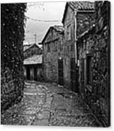 Ancient Street In Tui Bw Canvas Print