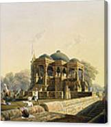 Ancient Temple At Hulwud, From Volume I Canvas Print