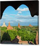Ancient Temples And Pagodas, Bagan Canvas Print